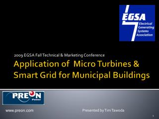 Application of  Micro Turbines  Smart Grid for Municipal Buildings