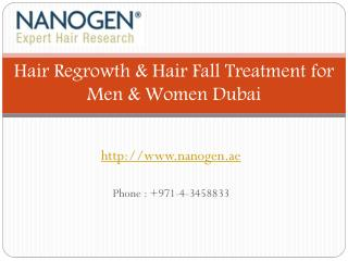 Hair Regrowth & Hair Fall Treatment for Men & Women Dubai