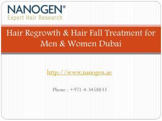 Hair Regrowth & Hair Fall Treatment for Men & Women Dubai