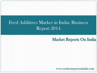 Feed Additives Market in India - Business Report 2014