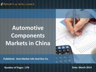 Automotive Components Markets in China
