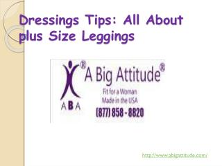 Dressings Tips: All About plus Size Leggings