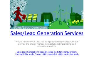 Sales/Lead Generation Services