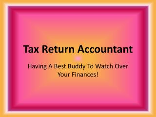 Tax Return Accountant: Having A Best Buddy To Watch Over You