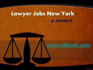 Lawyer Jobs New York at JDhuntr