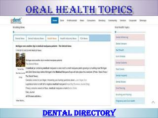 Oral health topics