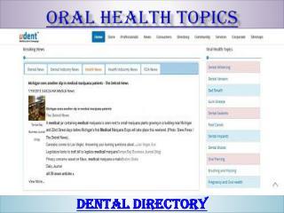 Oral health topics