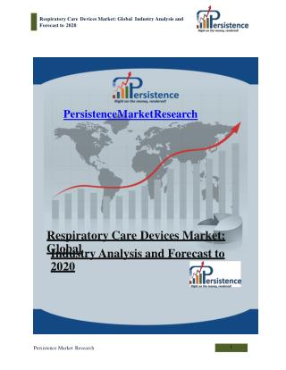 Respiratory Care Devices Market: Global Industry Analysis an