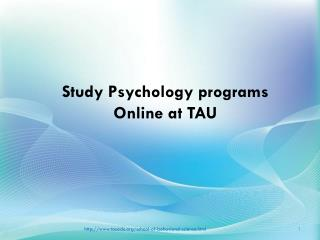 Study psychology programs online at TAU