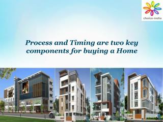 Process and Timing are two key components for buying a Home