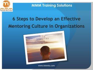 Effective Mentoring Culture