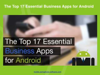 Top Essential Business Apps for Android