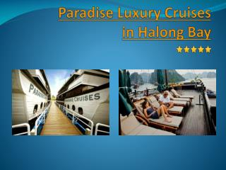 Paradise Luxury Cruises in Halong Bay