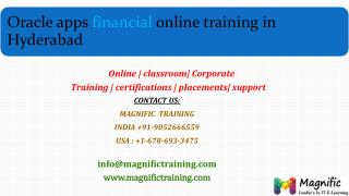 oracle apps financial online training classes