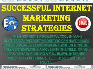 Successful Internet Marketing Strategies