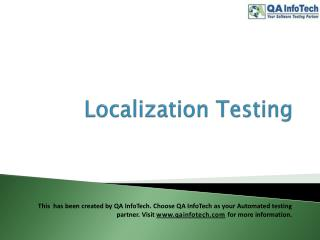 What is Localization Testing?