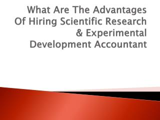 What Are The Advantages Of Hiring Scientific Research