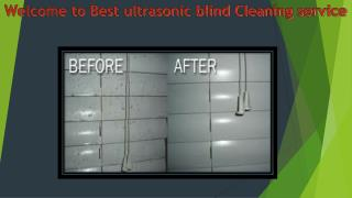 Best Ultrasonic Blind Cleaning