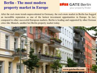 Berlin - The most modern property market in Europe