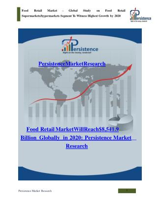 Global Study on Food Retail Market