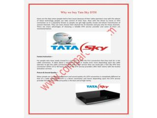 Why We Buy Tata Sky Dth, Dish TV Dth, Videocon D2h HD