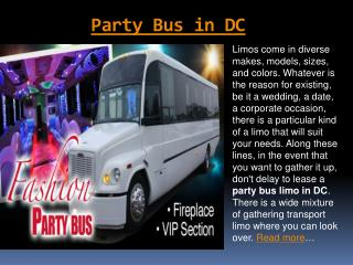 Party Bus Service in MD | American Eagle Limo
