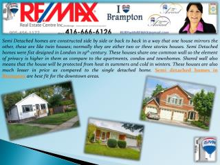 Semi Detached Homes in Brampton