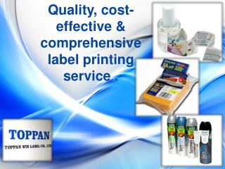 Quality, cost-effective & comprehensive label printing servi