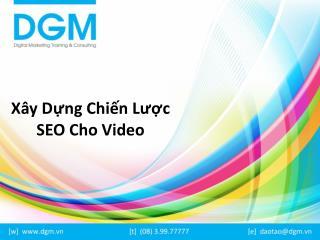 Xây dựng chiến lược SEO video hiệu quả