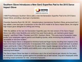 Southern Glove Introduces a New Gen3 Superflex Pad