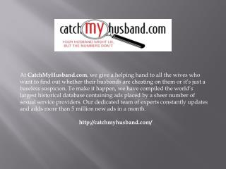 Catch My Husband: Private Investigators | Cheating Husbands|