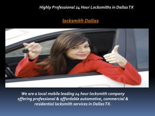 Highly Professional 24 Hour Locksmiths in Dallas TX