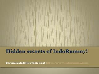 Hidden secrets of IndoRummy!