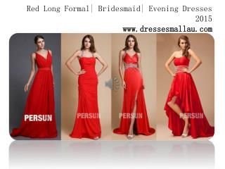 Cheap red long party dresses for women