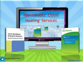 QuickBooks  Cloud hosting  Services