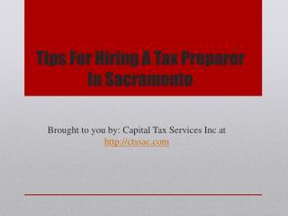 Tips For Hiring A Tax Preparer In Sacramento