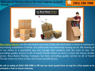 Get the best Boca Raton Moving and Packaging Services