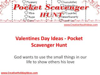 Valentines Day Ideas - Pocket Scavenger Hunt