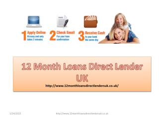 12 Month Loans Direct Lenders UK