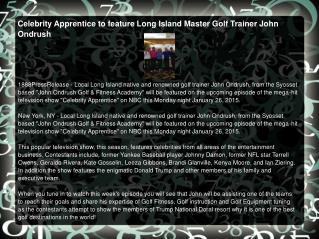 Celebrity Apprentice to feature Long Island