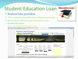 Student Education Loan
