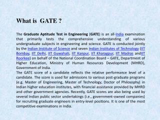Vani Institute For Gate Coaching