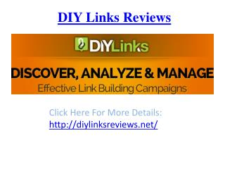DIY Links Reviews - Bonuses