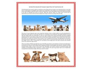 Pet Travel Scheme and Exporting Your Pet or Pet relocation s