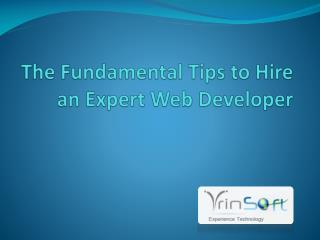 The Fundamental Tips to Hire an Expert Web Developer