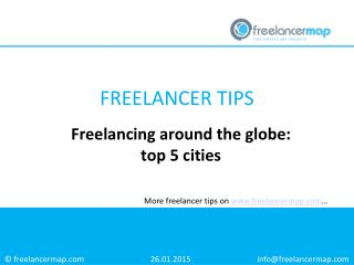 Freelancing around the globe: top 5 cities