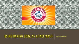 Baking Soda Face Wash
