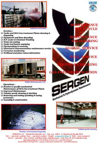 S E R G E N Manutenzioni Meccaniche e Idrodinamiche
