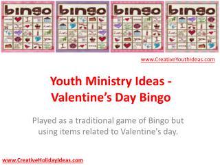 Youth Ministry Ideas - Valentine's Day Bingo