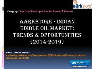 Aarkstore - Indian Edible Oil Market: Trends & Opportunities